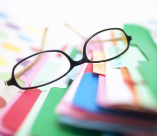 Glasses on File Folders