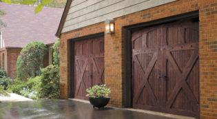 Leon Valley Wood Garage Door