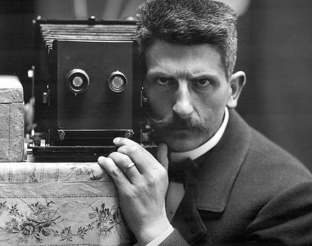 O fotógrafo suíço Frédéric Boissonnas em 1900.