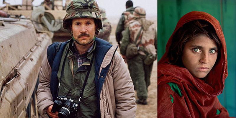 """O fotógrafo Steve McCurry e sua foto """"A Menina Afegã"""""""