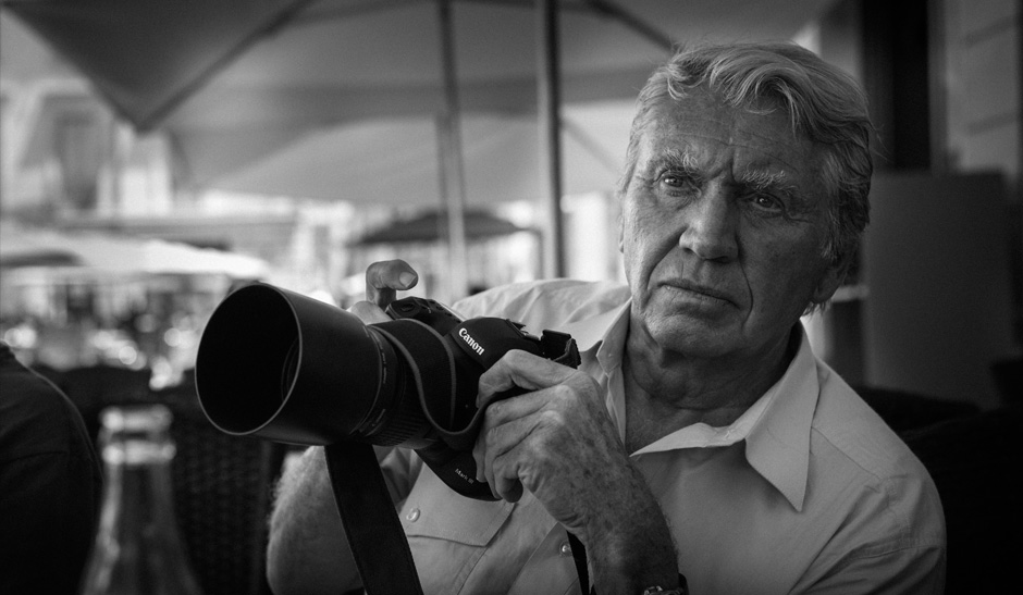 O fotógrafo Don McCullin | Imagem: Canon/Divulgação