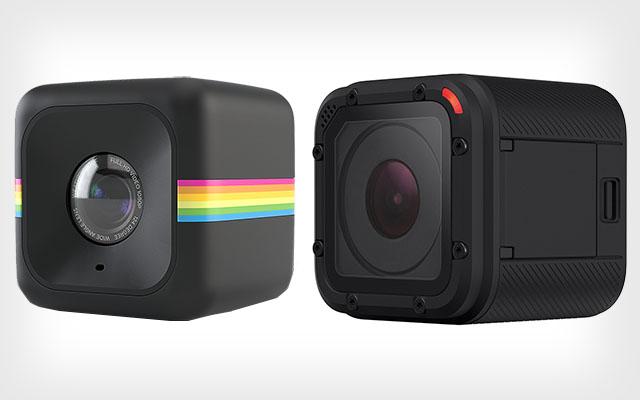 Nesta montagem criada pelo PetaPixel, as fotos oficiais da Polaroid Cube e da GoPro Session são colocadas lado a lado mostrando a grande semelhança das duas câmeras