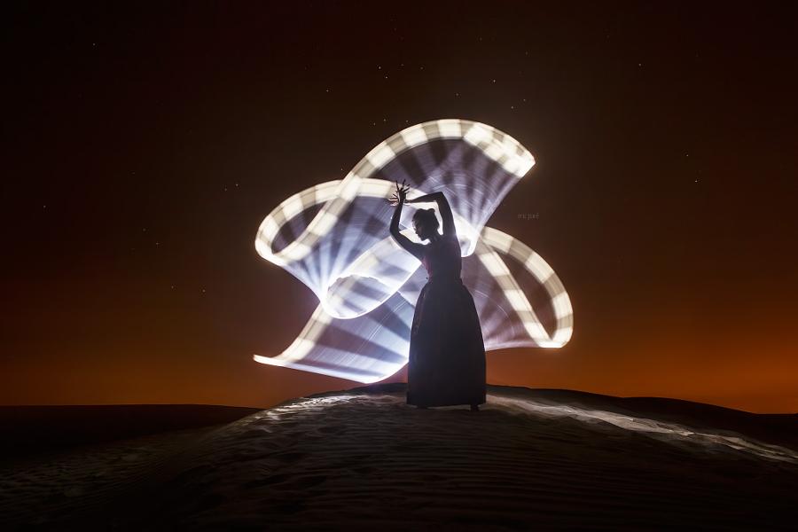 Como são feitas as fotos com light painting