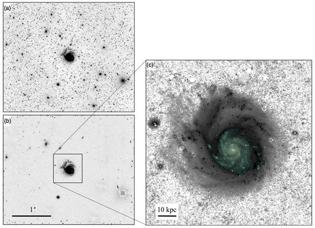 Um exemplo de foto de uma galáxia em que o equipamento foi utilizado para capturar.