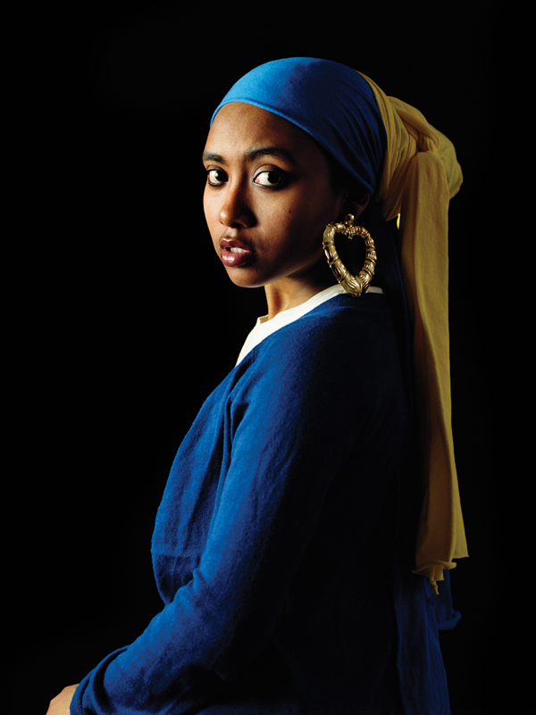 """""""Garota com brinco de bamboo"""", de Awol, releitura do quadro """"Garota com brinco de Pérola"""", de Johannes Vermeer."""