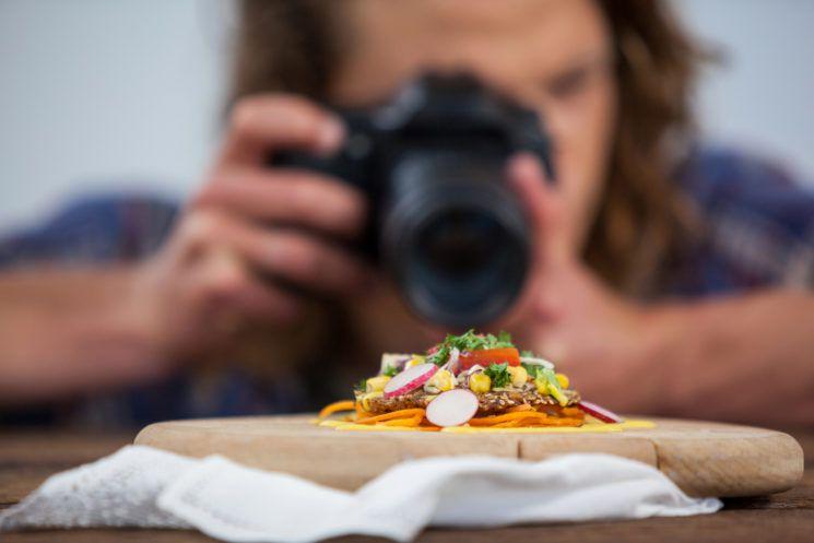 Fotografia de alimentos e fotografia de comida