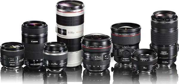 lentes EF para câmeras Canon DSLR