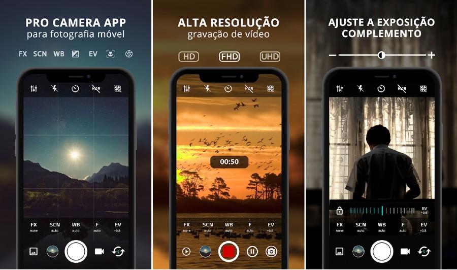 Aplicativo de câmera grátis para Android