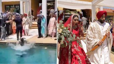 fotógrafo de casamento cai dentro de piscina enquanto fotografava cerimônia