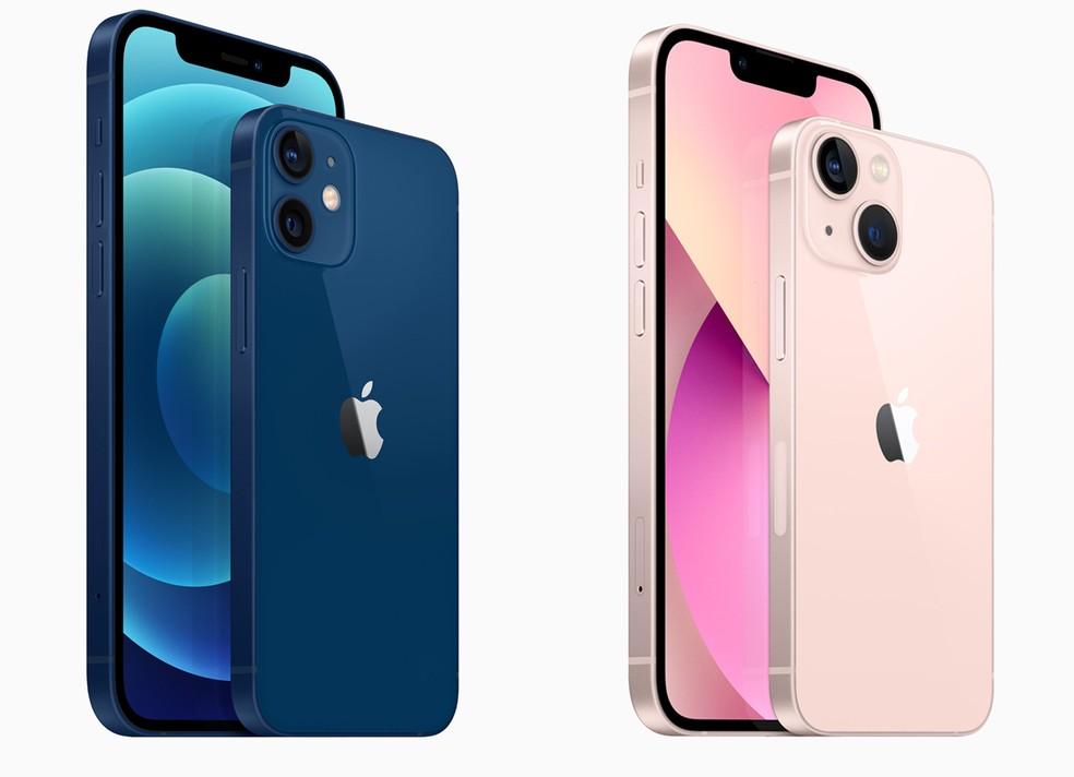 Veja as diferenças visuais entre o iPhone 12 e o iPhone 13