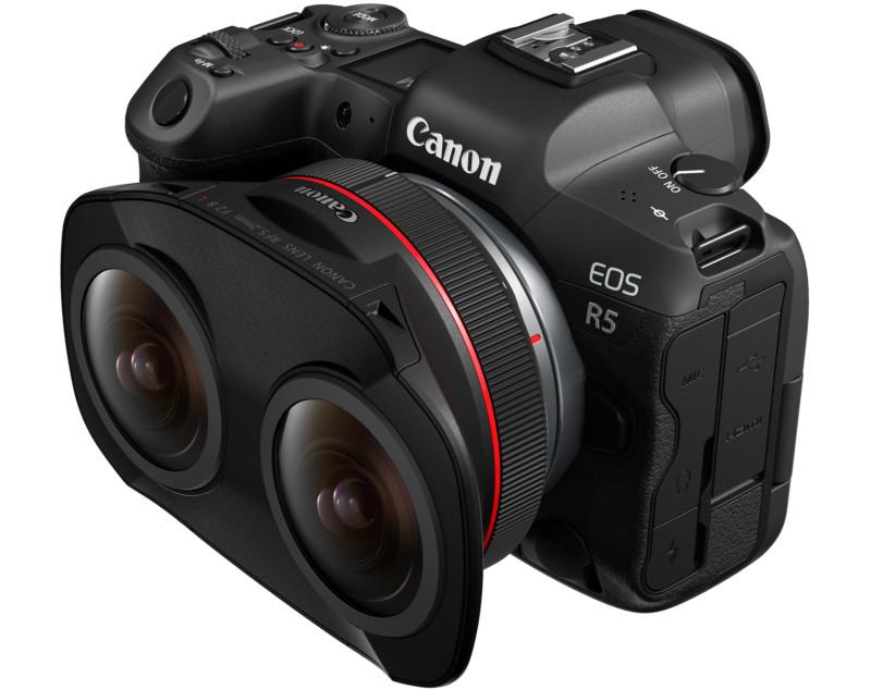 Canon lança lente dupla inédita para  realidade virtual: Fisheye RF 5.2mm f/2.8 L
