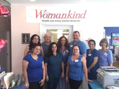 Womankind Staff Dresses in Blue to Support Colon Health March 6 2015