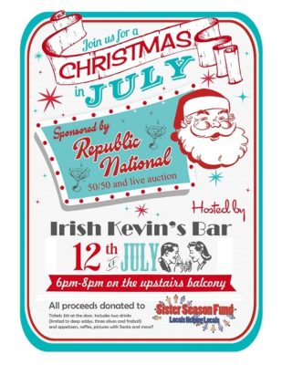 Christmas in July to Benefit Sister Season Fund