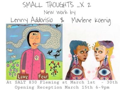 SALT Gallery Features Two Artists in March