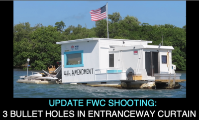 Update FWC Shooting: Three Bullet Holes in Entranceway Curtain