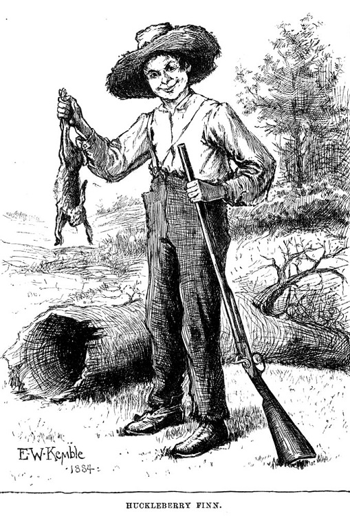 """""""Got the varmint. See?"""" Huck displays verifiable evidence of a successful hunting trip.*"""