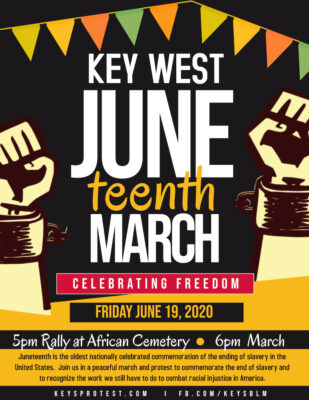Freedom March to Celebrate Juneteenth Starting at African Cemetery - Friday 5 PM