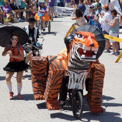 The Third Annual Key West Art & Historical Society Papio Kinetic Sculpture Parade