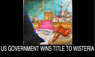 JUDGE DECLARES WISTERIA ISLAND BELONGS TO UNITED STATES, NOT THE BERNSTEINS