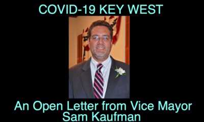 Key West Covid-19: An Open Letter from Vice Mayor Sam Kaufman