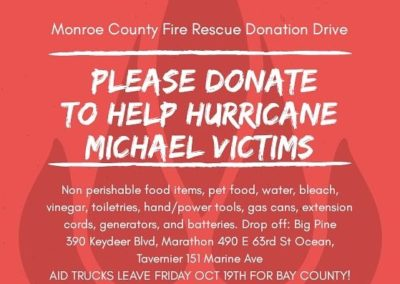 Fire Rescue Collecting Items for Hurricane Michael Victims