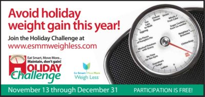 Holiday Weight Control Challenge