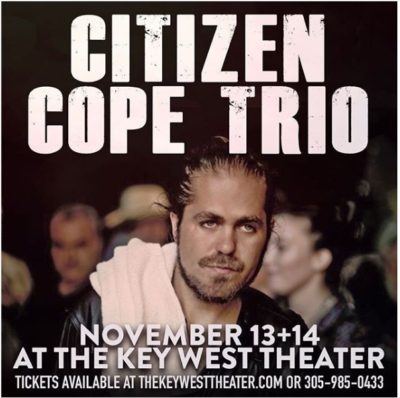 Citizen Cope Returns to the Key West Theater as a Trio