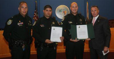 Sheriff Awards Deputies for Saving Lives