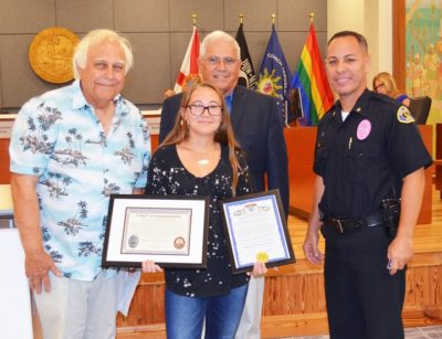 Local Girl Commended for Heroic Act