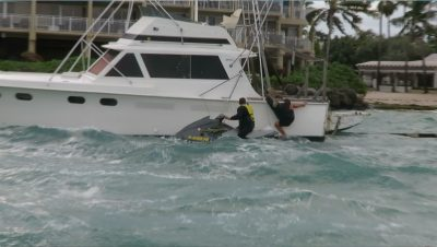ONLY IN KEY WEST: Jet Skier Tries to Rescue Trawler in a Storm