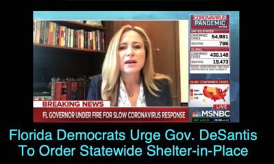 Florida Democrats Urge Gov. DeSantis To Order Statewide Shelter-In-Place