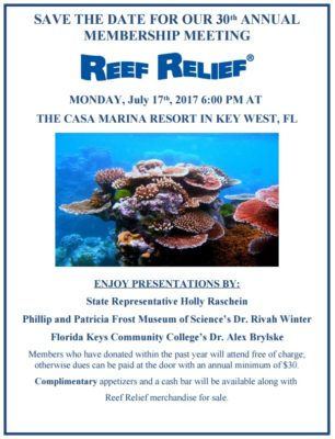 Reef Relief's 30th Annual Meeting is Next Week!