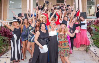 Fashion Strolls Poolside for Sister Season