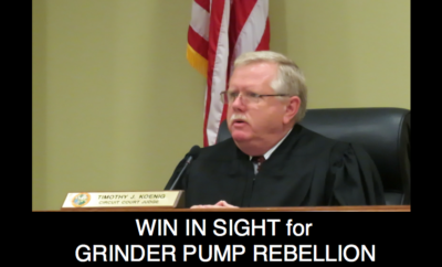 Win in Sight for Grinder Pump Rebellion