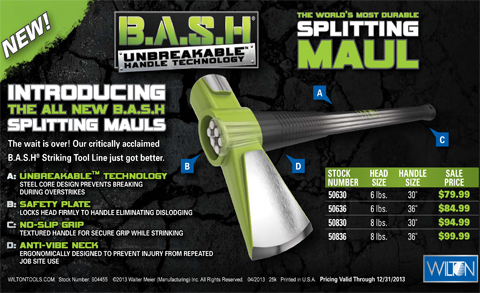 Bash Splitting Maul Axes