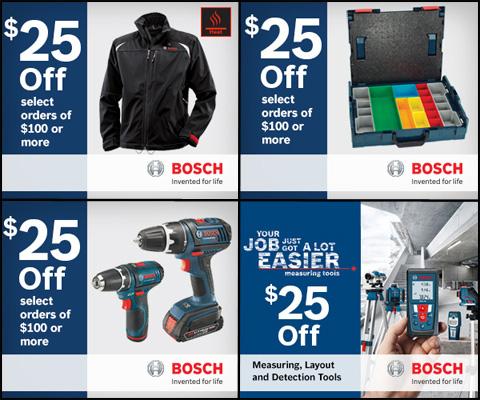 Bosch $25 Off