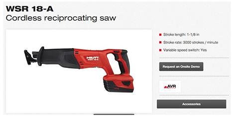 Hilti Cordless Reciprocating Saw