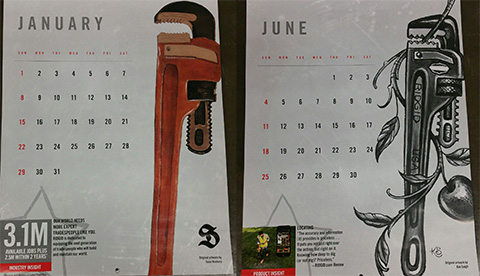 2017 Calendars from Ridgid