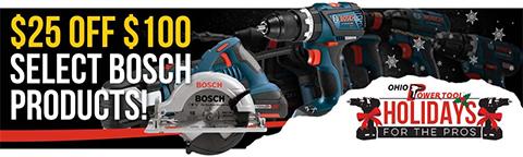 Bosch $25 off $100