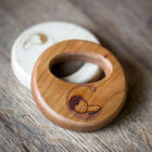 round solid wood single hole rattle