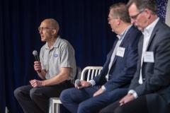 Dr. Peter Highnam, deputy director of DARPA, discusses STEM workforce needs on a panel.