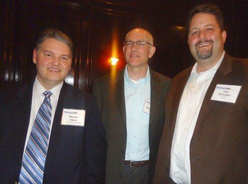 Mark Hein (SRA International), Bob Ragsdale (MicroPact) and Joe Pendry (GDIT)