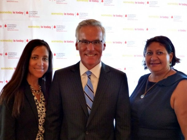 Dan Lasik, Leukemia Ball Executive Committee member, head of Real Estate/Hospitality Practice at Ernst & Young, with colleagues Sandy Aponte and Alice Dantley