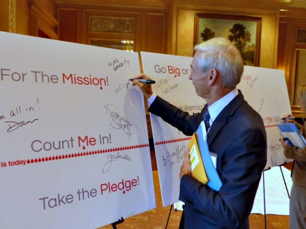 Dave Kay of Cross-Country Consulting takes the pledge to help raise $3 million for LLS's mission