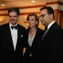 French ambassador François Delattre and his wife, Sophie L'Hélias-Delattre with president and CEO of the Wolf Trap Foundation for the Performing Arts, Arvind Manocha. Photo: Camille Cintron