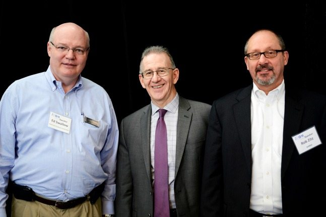 Ed Swallow (Northrop Grumman), Ted Cope (NGA), Rob Zitz (Leidos) at the Inaugural STEM Symposium