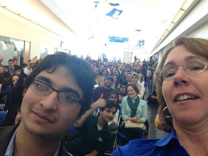 Archis and Dr. Sandy Magnus, Selfie at the STEM Symposium