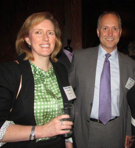 Christina Correira (USIS) and Steve Woolwine (URS)