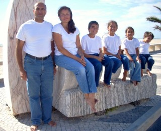 Carlos Fernandes of Salient Federal Solutions with his family while on travel.