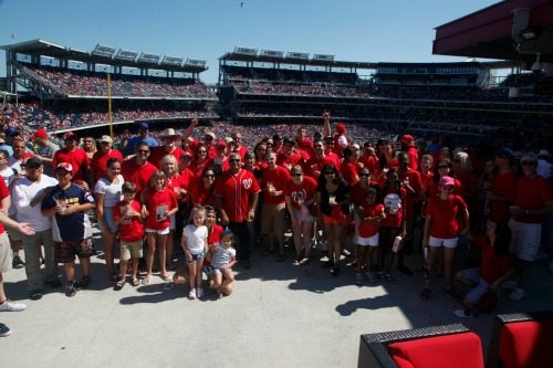 Moe Jafari and the HumanTouch team at a Washington Nationals game